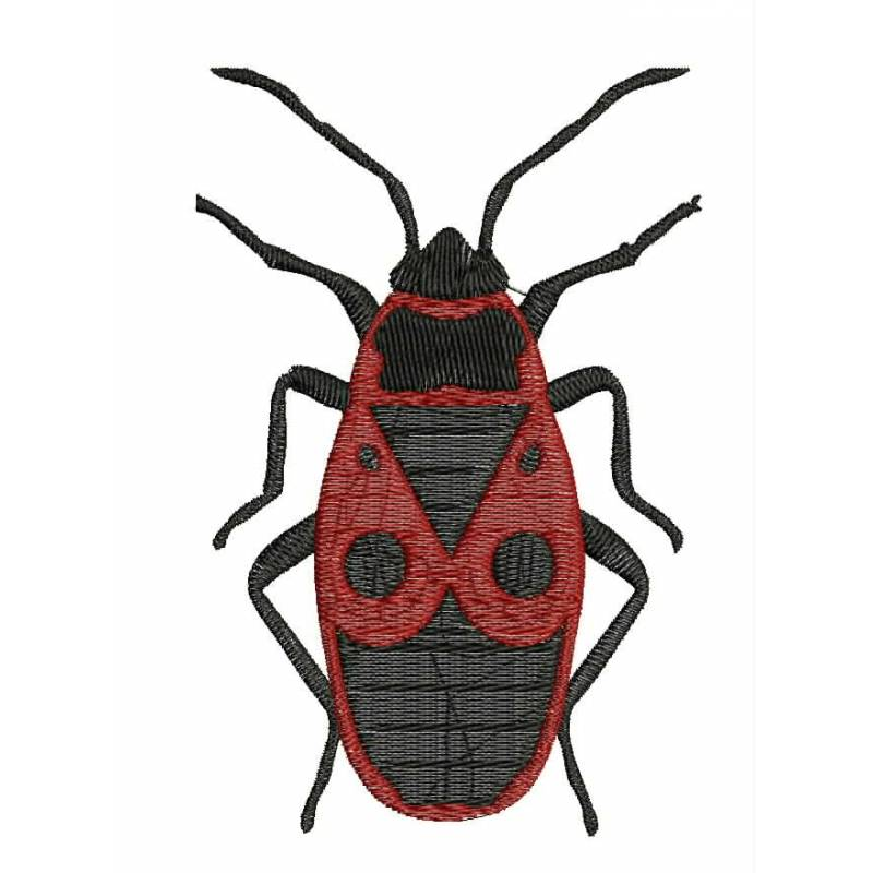 Cockroach insect embroidery design bug