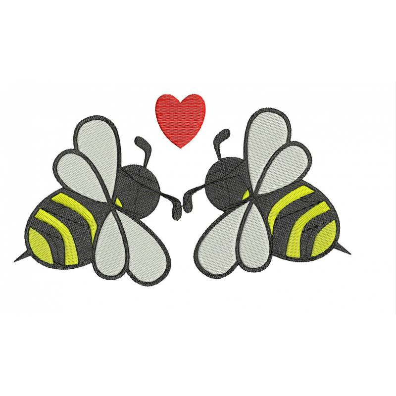Bee love embroidery design