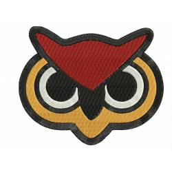 Owl Face Animal Embroidery Design