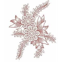 Redwork Outline Embroidery Design