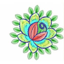 Colorful Rose Embroidery Design