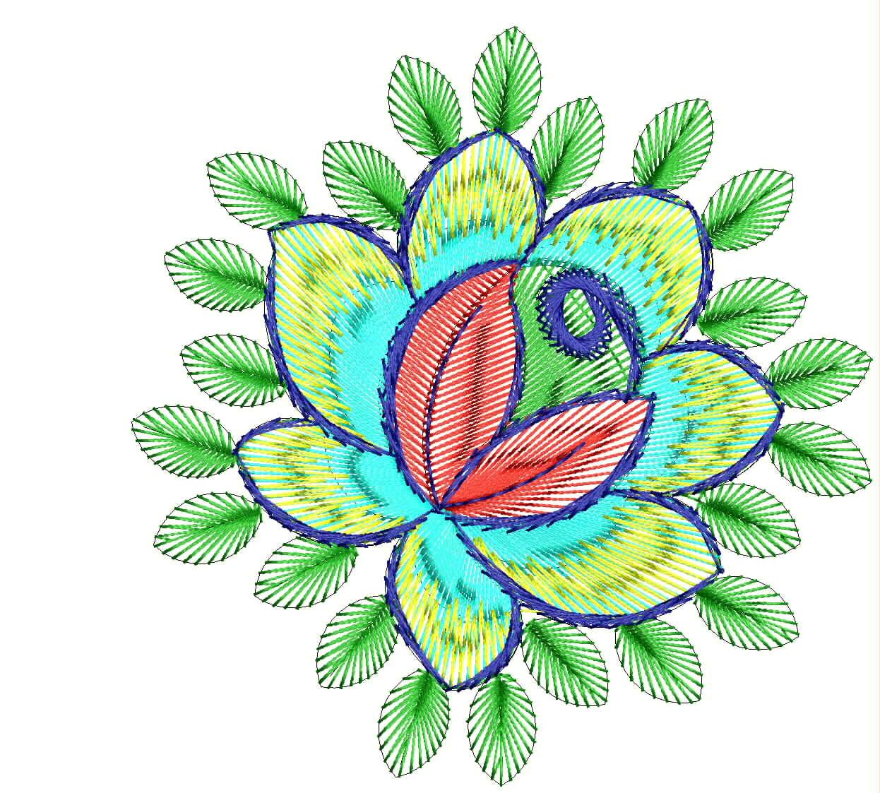 Flower border embroidery designs imgkid the