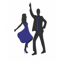 Dance Couple shilloutes Design