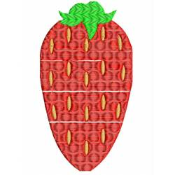 Strawberry Fruit Embroidery Design
