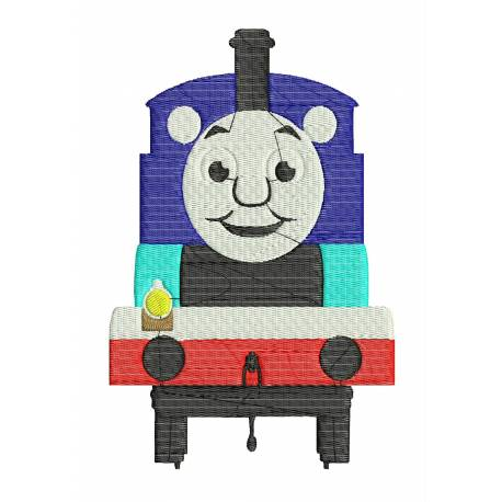 The Train Embroidery Design