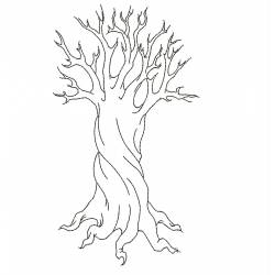 Abstract Tree Embroidery Design