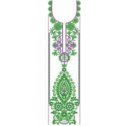 Green Indian Full Dress Embroidery Designs