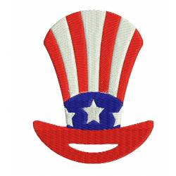 Patriotic US Badge Embroidery Design