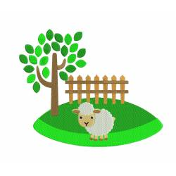Sheep Garden Embroidery Design
