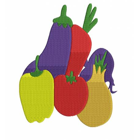 Vegetable Embroidery Design