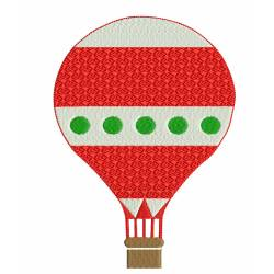 Hot Air Balloons Embroidery Design