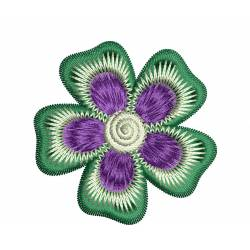2x2 Embroidery Flower Design