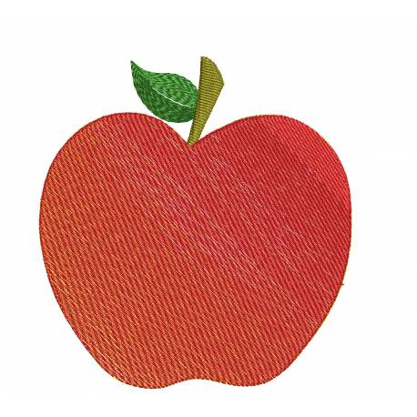 Apple Fruits Embroidery Design