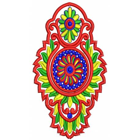 Abstract Paisley Patch Design