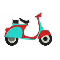 New Scooter Embroidery Design