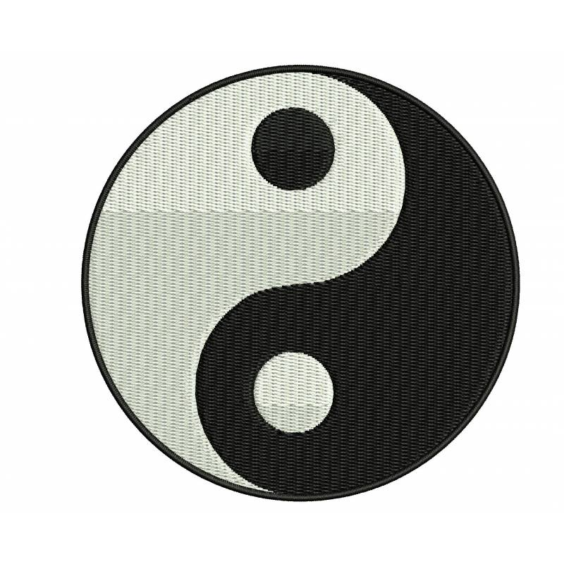 Yin yang embroidery design for Architecture yin yang