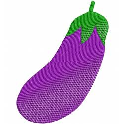 Eggplant Vegetable Embroidery Design
