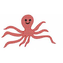 Motif Octopus Embroidery Design