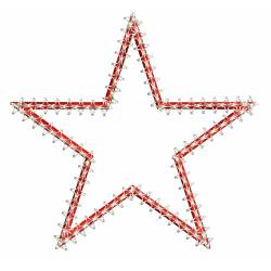 Motif Star Embroidery Design