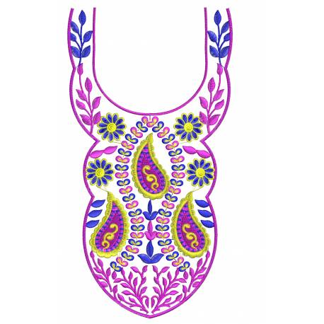 Free Neckline Embroidery Design