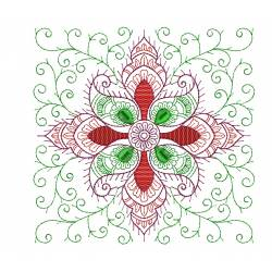 Floral Placemat Embroidery Design Freebie