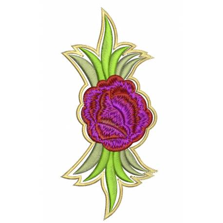 Rose Flower 5x7 Embroidery Design