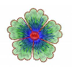 Beautiful Flower Machine Embroidery Design