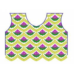 Choli Neckline Embroidery Design