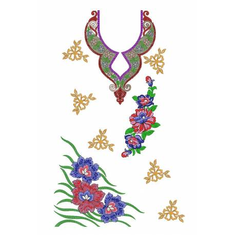 New Embroidery Dress Design