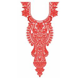Arabian Neckline Embroidery Design