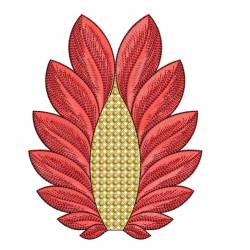 Beautiful Abstract Leaf 5x7 Embroidery Design