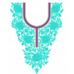 Beautiful Neckline Embroidery Design