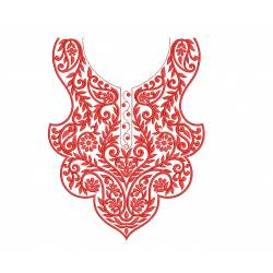 Red Neckline Embroidery Design