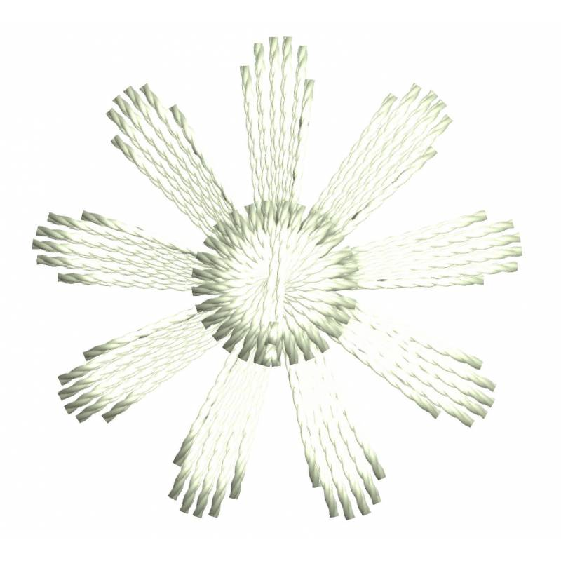 Small White Flower Embroidery Design