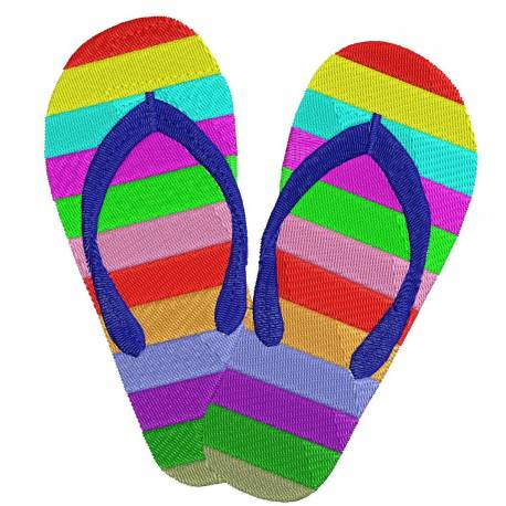 Flip Flop and Slipper Embroidery Design