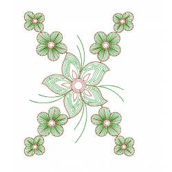 Floral Embroidery Pattern Design