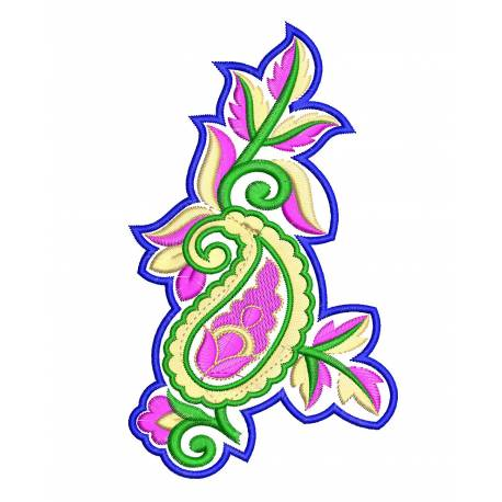 Coloured Patch Butta Embroidery Design