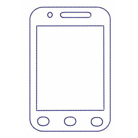 SmartPhone Outline Embroidery Design