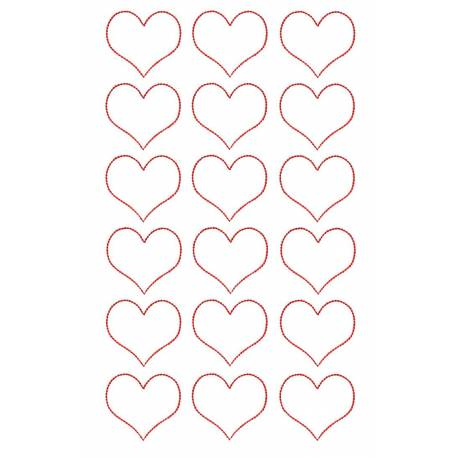 Outline Heart Embroidery Design