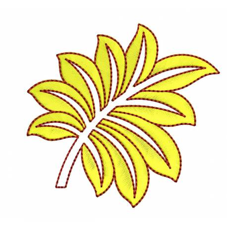 Leaf Embroidery Design