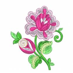 Valentine Flower Embroidery Design
