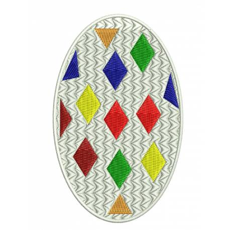 Colorful Easter Egg Embroidery Design