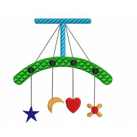 Baby Crib Cradle Toy Embroidery Design