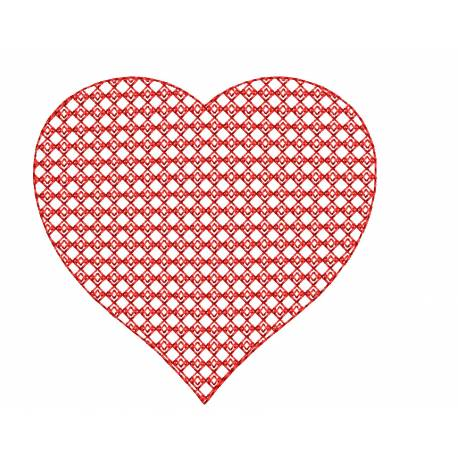 3D Heart Embroidery Design