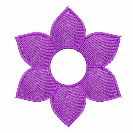 Flower Embroidery Design 5x7