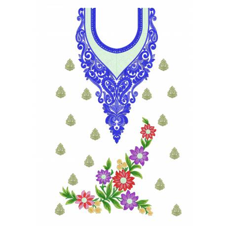 Latest Full Dress  Embroidery Design