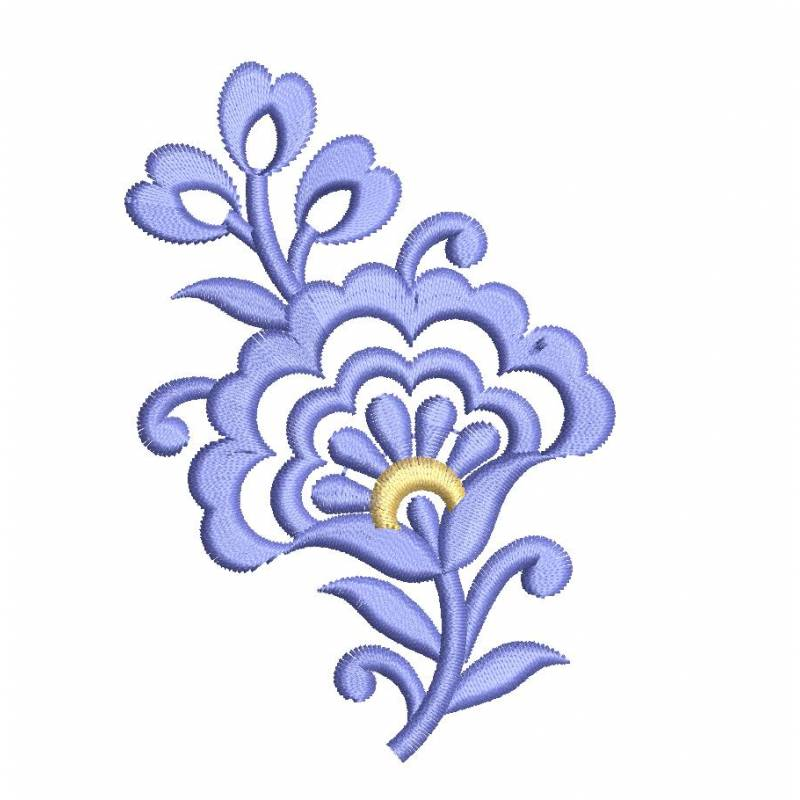 Floral Butta Embroidery Design