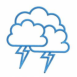 Cloud Thunderstorm Embroidery Design