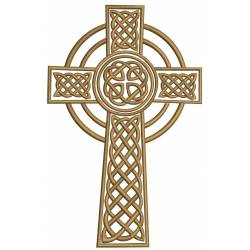Celtic Cross Machine Embroidery Design