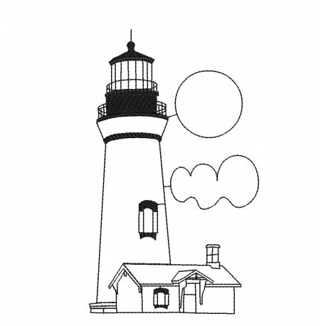 Outline Light House 5x7 Design